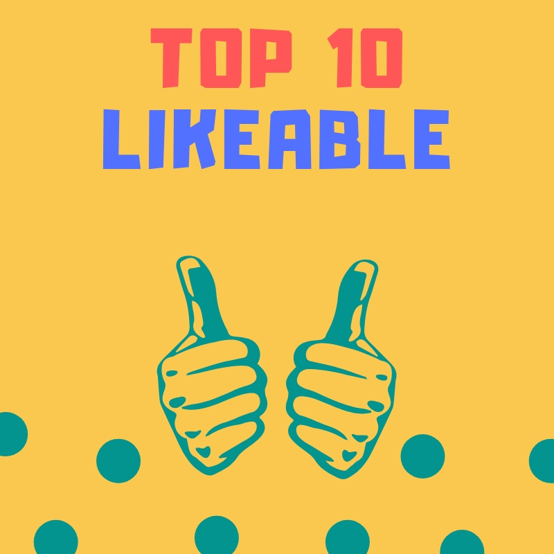 USA  Top 10 Likeable